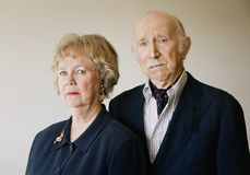 Snooty Senior Couple stock image