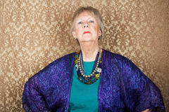 Snooty Senior Woman stock images
