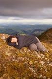 Snooze in cima al mondo 02 Fotografie Stock