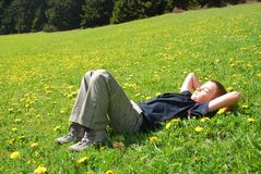 Snooze in free nature Stock Image
