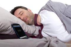 Snoozing alarm obraz stock