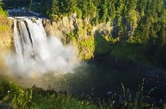 Snoqualmie cai em Washington Imagens de Stock