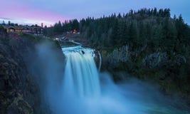 Snoqualmie-Fälle, Washington State Lizenzfreies Stockfoto