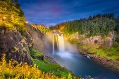 Snoqualmie-Fälle, Washington, USA Lizenzfreies Stockfoto