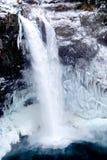 Snoqualmie fällt Winter-Eis-Frost-Wasserfall lizenzfreies stockbild