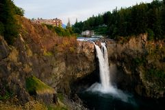 Snoqualmie Falls at Dusk Stock Photography
