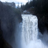 Snoqualmie Falls near Seattle. Washington, where filmmaker David Lynch was shooting movie Twin Peaks Royalty Free Stock Photo