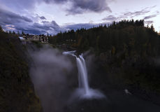 Snoqualmie Falls at Sunset Stock Image