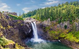 Free Snoqualmie Falls Under Pleasant Skies Royalty Free Stock Photo - 158244625