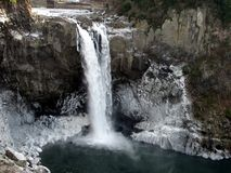 Snoqualmie Falls in Winter Stock Image