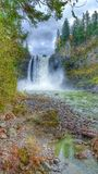 Snoqualmie Falls. In the winter Royalty Free Stock Images