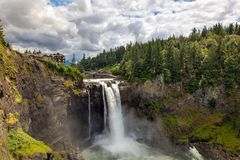 Snoqualmie nedgångar i Seattle Washington State Arkivfoto