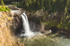Snoqualmie nedgångar, Washington, USA Arkivfoton