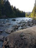Snoqualmie river Royalty Free Stock Photo