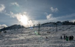 Snoqualmie Ski Area fotografia de stock