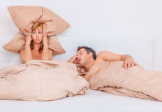 Snore night Royalty Free Stock Photography