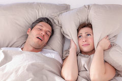 Snore at night Stock Image