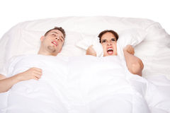 Snoring and asleep Royalty Free Stock Image