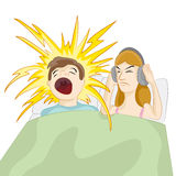 Snoring Husband Stock Images