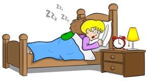 Snoring man and sleepless woman Royalty Free Stock Image
