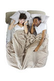 Snoring Partner Stock Image