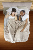 Snoring Partner Royalty Free Stock Images