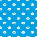 Snoring pattern vector seamless blue. Repeat for any use Stock Photo