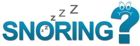 Snoring Sad Question Mark. Snoring concept image with text and sad question mark Stock Images