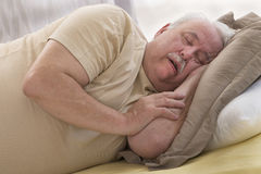 SNORING SENIOR Stock Photos