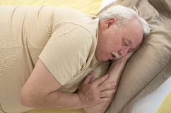 SNORING SENIOR Royalty Free Stock Photos