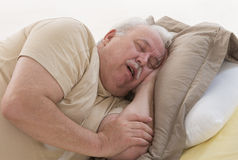 SNORING SENIOR Stock Photos