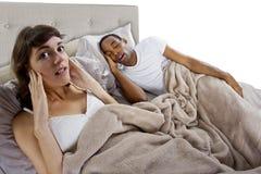 Snoring royalty free stock image