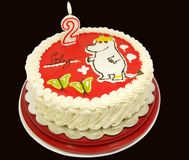 The snork maiden moomin, cake Stock Images