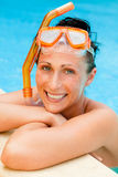 snorkel девушки Стоковая Фотография RF