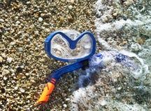 Snorkel и маска для подныривания Стоковое фото RF
