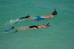 snorkel медового месяца Стоковое Изображение RF