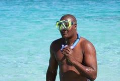 snorkel человека шестерни Стоковые Фотографии RF