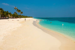 Snorkel Beach on Kuredu Stock Photo