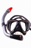 Snorkel and  diving mask. Snorkel and  mask isolated on white background Royalty Free Stock Photos