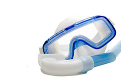 Snorkel and Diving Mask. A snorkel and a diving mask for underwater adventures royalty free stock image
