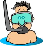 Snorkel Dude Royalty Free Stock Photos