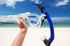 Snorkel equipment Stock Image