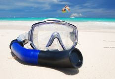 Snorkel equipment Royalty Free Stock Images