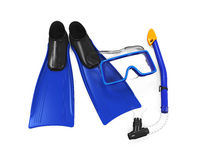 Snorkel Equipment. Isolated on white background. 3D render Stock Photo