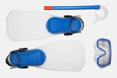 Snorkel, flippers and Mask for Diving Royalty Free Stock Image