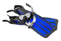 Snorkel, flippers and Mask for Diving Royalty Free Stock Photo