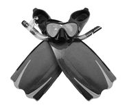 Snorkel, flippers and Mask for Diving Stock Photos
