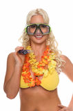 Snorkel Girl Royalty Free Stock Photography