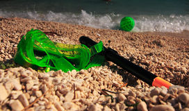 Snorkel and goggle Stock Images