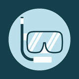 Snorkel icon Royalty Free Stock Photography